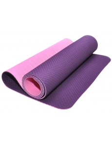 Коврик для йоги и фитнеса, трехслойный с перфорацией (фиолетово-розовый)