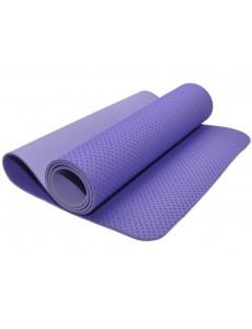 Коврик для йоги и фитнеса, трехслойный, полиэстер + хлопок (аметистовый)
