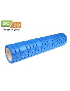 Валик (ролл) массажный жесткий рельефный для фитнеса и йоги 60 см