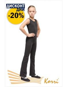 Комбинезон гимнастический на широкой лямке с брюками (хлопок)