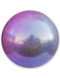 Мяч PASTORELLI GLITTER HV с переходом цвета (серебро-розовый)