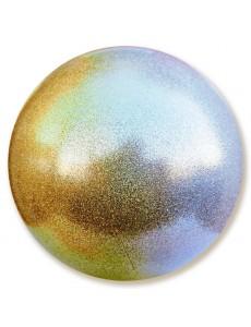 Мяч PASTORELLI GLITTER HV с переходом цвета (серебро-золотой)