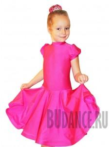 Платье рейтинговое для танцев с коротким рукавом и воротничком