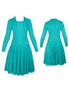 Платье рейтинговое гипюровое