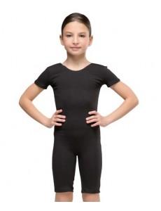 Комбинезон гимнастический рукав-футболка с велосипедками (хлопок)