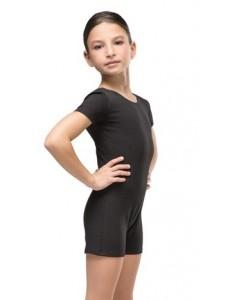 Комбинезон гимнастический рукав-футболка (хлопок)