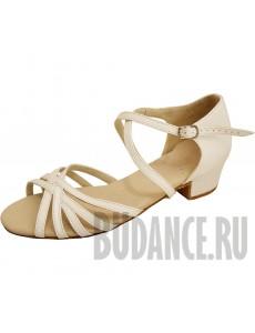 Туфли бальные кожаные (каблук 3см)