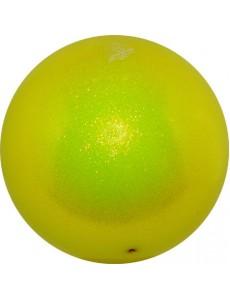 Мяч PASTORELLI GLITTER HV сверкающий флуо-желтый (Fluo Yellow)