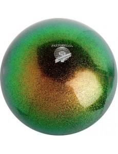 Мяч PASTORELLI GLITTER HV радужный зеленый (Green Oil)
