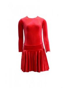 Платье рейтинговое для танцев велюр Альера КТ15.3