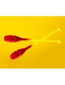 Булавы Sandra Dolinetti 41cm (Formula yellow / Passion red)