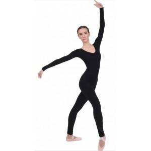 Комбинезон с длинным рукавом для гимнастики и танцев (полиамид)
