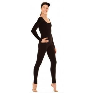 Комбинезон с длинным рукавом для гимнастики и танцев (хлопок)