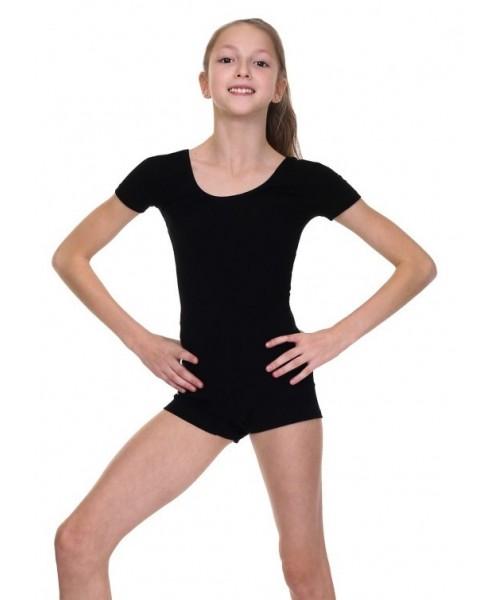 Комбинезон с короткими рукавами для гимнастики и танцев (хлопок)