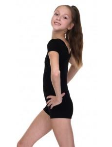 Комбинезон с короткими рукавами для гимнастики и танцев (полиамид)