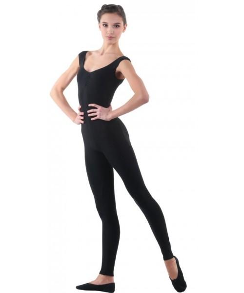 Комбинезон с открытым плечом для гимнастики и танцев (полиамид)