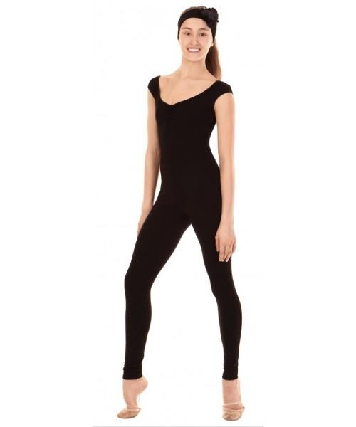 Комбинезон с открытым плечом для гимнастики и танцев (хлопок)
